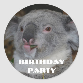Zoo Birthday Party Stickers