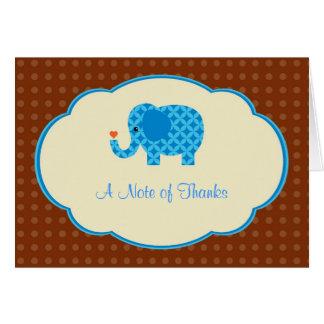 Zoo Blue Elephant Thank You Card