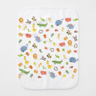 Zoo Burp Cloth