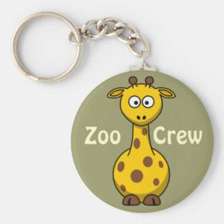 Zoo Crew Giraffe Basic Round Button Keychain