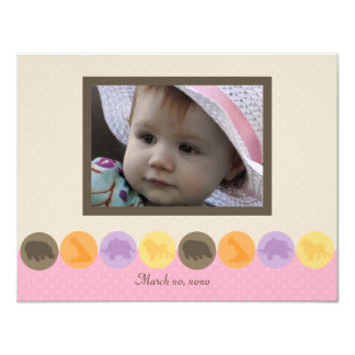 """Zoo Dot-ette Photo Thank You Note 4.25"""" X 5.5"""" Invitation Card"""