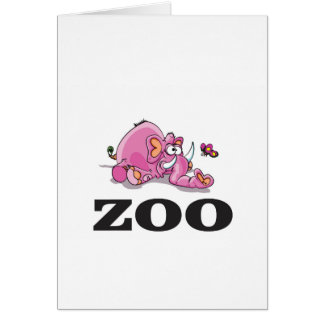 zoo elephant gag card