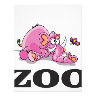 zoo elephant gag letterhead