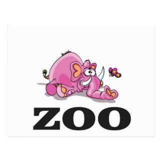 zoo elephant gag postcard