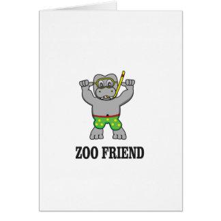 zoo friend hippo card