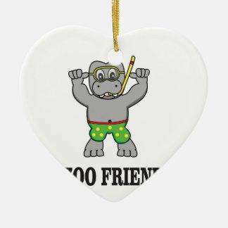zoo friend hippo ceramic ornament