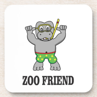 zoo friend hippo coaster