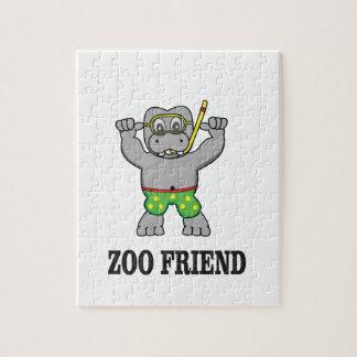 zoo friend hippo jigsaw puzzle