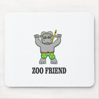 zoo friend hippo mouse pad