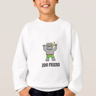 zoo friend hippo sweatshirt
