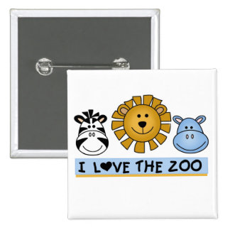 Zoo Friends 2 Inch Square Button