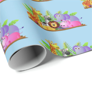Zoo Friends Wrapping Paper