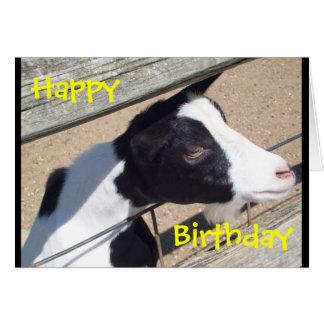 """Zoo Goat"" Birthday Card"