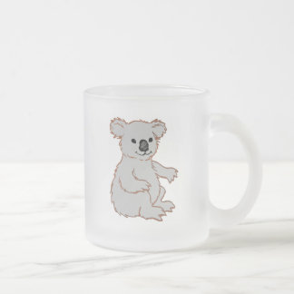 Zoo KOALA Frosted Glass Coffee Mug