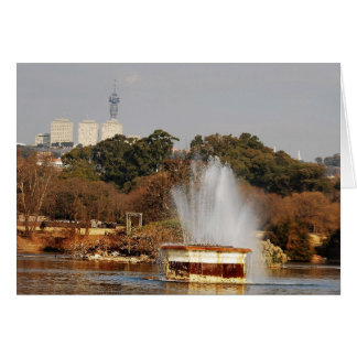 Zoo Lake Fountain Card