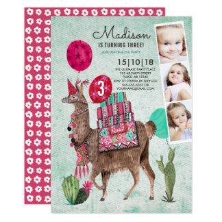 Zoo Party Birthday | Llama | Invitations
