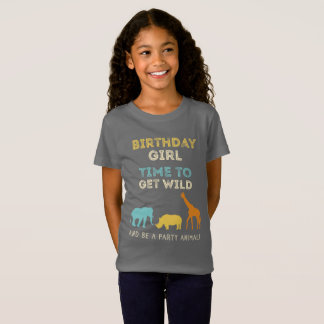 Zoo Safari Birthday Party Girl T-Shirt