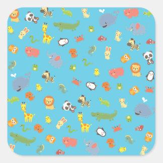 ZooBloo Square Sticker
