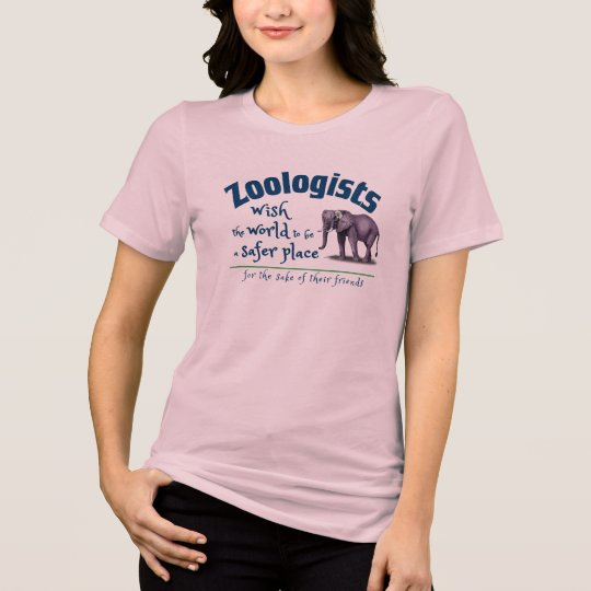 Zoologists wish world a safer place for friends T-Shirt