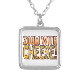Zoom Blue Cheese Silver Plated Necklace