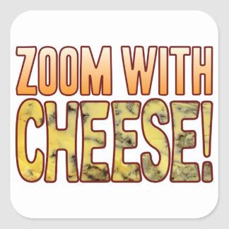 Zoom Blue Cheese Square Sticker