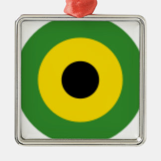 Zooming on Jamaica Metal Ornament