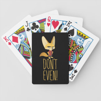 Zootopia | Finnick - Don't Even! Bicycle Playing Cards