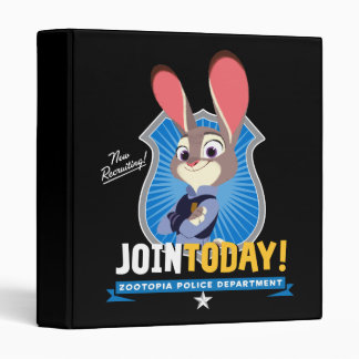 Zootopia | Judy Hopps - Join Today! 3 Ring Binder
