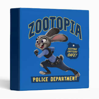Zootopia   Judy Hopps - Keeping Critters Safe! 3 Ring Binder