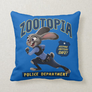 Zootopia | Judy Hopps - Keeping Critters Safe! Throw Pillow