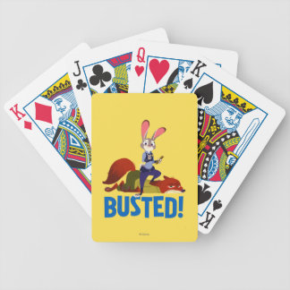 Zootopia | Judy Hopps & Nick Wilde - Busted! Bicycle Playing Cards
