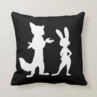 Zootopia | Judy & Nick Silhouette Throw Pillow