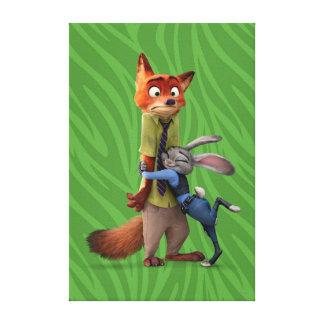 Zootopia   Judy & Nick - Suspect Apprehended! Canvas Print