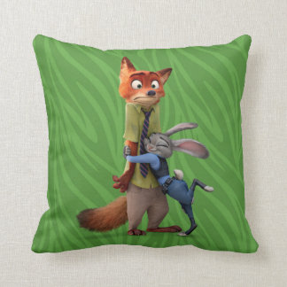 Zootopia | Judy & Nick - Suspect Apprehended! Throw Pillow