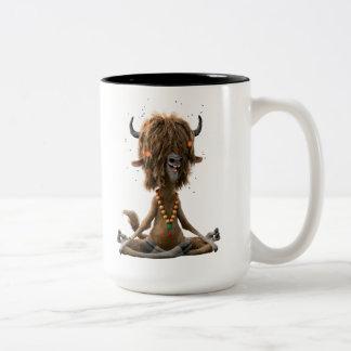 Zootopia | Meditate with Yax Two-Tone Coffee Mug