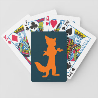 Zootopia | Nick Wilde Silhouette Bicycle Playing Cards