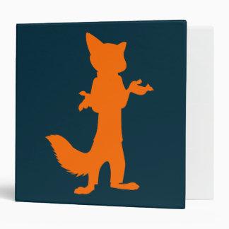 Zootopia | Nick Wilde Silhouette Vinyl Binders