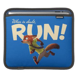 Zootopia | Nick Wilde - When in Doubt, RUN! iPad Sleeve