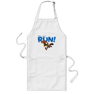 Zootopia | Nick Wilde - When in Doubt, RUN! Long Apron