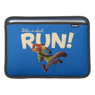 Zootopia   Nick Wilde - When in Doubt, RUN! MacBook Sleeve