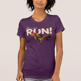 Zootopia   Nick Wilde - When in Doubt, RUN! T-Shirt