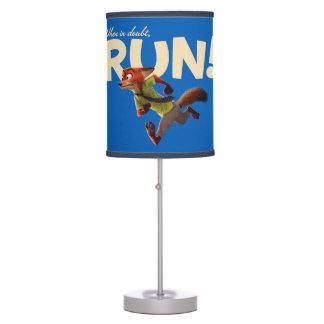 Zootopia   Nick Wilde - When in Doubt, RUN! Table Lamp