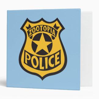 Zootopia   Zootopia Police Badge 3 Ring Binder