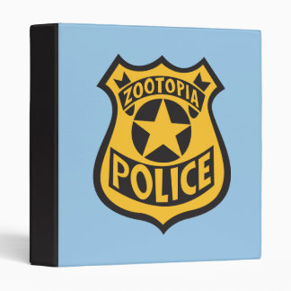 Zootopia | Zootopia Police Badge 3 Ring Binder
