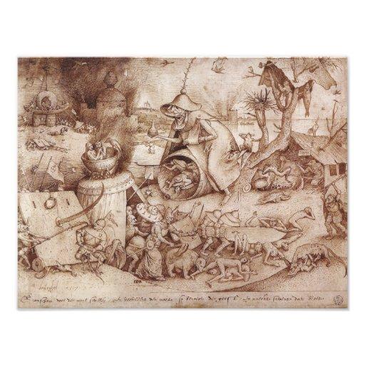 Zorn (Anger) by Pieter Bruegel the Elder Photographic Print
