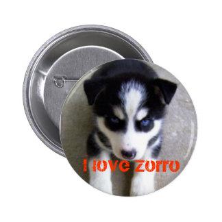 zorro, I love Zorro 2 Inch Round Button