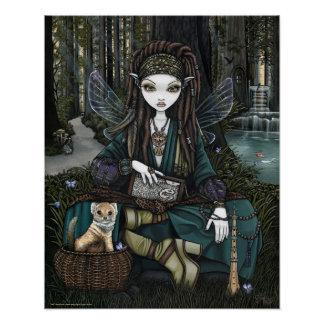 Zoti Woodland Forest Fairy Awen Soothsayer Poster