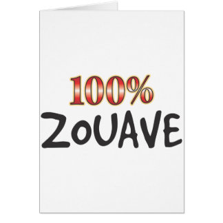 Zouave 100 Percent Card