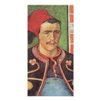Zouave half figure by Vincent van Gogh Custom Photo Card