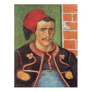 Zouave half figure by Vincent van Gogh Postcard